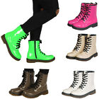 LADIES COMBAT BOOTS WOMENS WORKER LACE UP ANKLE BOOTS SHOES SIZE UK 3 4 5 6 7 8