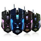 2800 DPI Adjustable 6 Buttons Optical USB Wired Gaming Game Mouse For PC Tide
