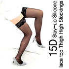 15D Stay-up Silicone lace top Thigh High Stockings / 3 color / Free shipping