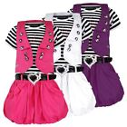 GIRLS BELTED SHORT SLEEVE DRESS & WAISTCOAT SET DIAMANTE BABY DESIGN 3-12 Y
