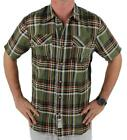 NEW NWT LEVI'S MEN'S CLASSIC PLAID SHORT SLEEVE BUTTON UP SHIRT OLIVE 3LDSW062
