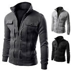 New Fashion Men's Slim Fit Stand Collar Casual Jacket Coat Tops Outwear XS S M L
