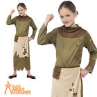 Child Peasant Girl Costume Horrible Histories Book Day Week Fancy Dress Outfit