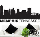"""Wall Decal Sticker Memphis Tennessee Skyline 21"""" Tall 50"""" Wide in White or Black"""