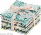NEW! Tilda SPRING LAKE Teal Cotton Genuine Full Size 50 x 55 Fabric Fat Quarters