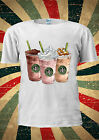 Coffee Cafe Iced Cream Straws Tumblr Fashion T Shirt Men Women Unisex 1748