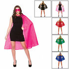 Adults Super Hero Cape With Mask Set World Book Day Fancy Dress Accessory New