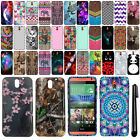 For HTC Desire 610 Cute Design TPU SILICONE Rubber SKIN Case Phone Cover + Pen