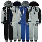KIDS 2 PIECE SUIT VARSITY TRACKSUIT JOGGING BOTTOMS HOODED TOP BOYS GIRLS 3-16Y
