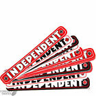 "INDEPENDENT TRUCKS ""Bar"" Skateboard Sticker 1.5cm x 14cm Small Red White Black"