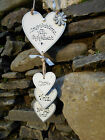 New Personalised Engagement Hanging Heart Wall Plaque,valentine Gift Shabby Chic
