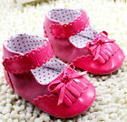 New Soft Sole Baby Girl Pink Patent Corduroy Crib Shoes. Age 3-6, 6-12, 12-18 M