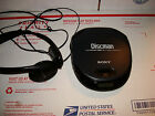 SONY Discman D-151 Portable CD Compact Disc Player working has headphnes sony