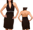Women Dress Backless clubwear Black party cocktail casual Studded Halter Dresses