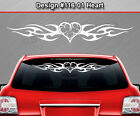 #116-01 Heart Rear Window Decal Sticker Vinyl Graphic Tribal Flame Car Truck SUV