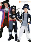 Boys Pirate Captain Costume Kids Caribbean Fancy Dress Child Book Week Day