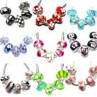 5 x Glass Charms Beads Sets for Silver Charm Bracelets