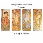 Deluxe Art Nouveau Decorative Print by Artdash® ~ Alphonse Mucha  FLOWERS