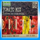 TOMATO MIX 5 SEED PACKETS MONEY MAKER GARDENS DELIGHT SUNBABY MARMANDE EASY GROW