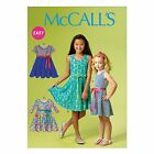 McCalls 6915 EASY Girls Sleeveless Sleeves Dress Sewing Pattern 3-14 Years M6915