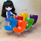 Egg Chair Armchair Backrest Swivel Barbie Blythe Dollhouse Miniatures 1:6 Scale