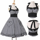 VTG 1950s Housewife Dress Pinup Rockabilly Gothic Swing EVENING Attire Dresses