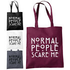 Normal People Scare Me Shopper Tote Bag - American Horror Story Fan Fashion Bags