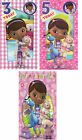 Official Doc McStuffins Birthday Greetings Card - Age 3 - Age 5 - Happy Birthday