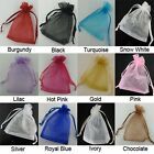 100pcs  Wedding Favour Sheer Gift Bags Jewellery Packing Organza Pouch Gift Bag