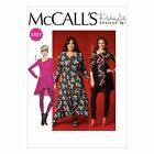 McCalls 7028 Khaliah Ali Tunic Dress Leggings XS- Plus Size Sewing Pattern M7028