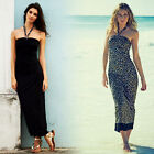 Avon Animal Print and Black Reversible Maxi Beach Dress Size 10/12 Holiday