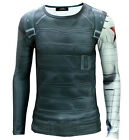 Winter Soldier Bucky Barnes Long Sleeves T-shirt Captain America Free Shipping