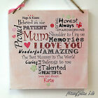 Personalised MUM Plaque Wooden Sign Gift Mothers Day Love Family W137