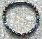 Magnetic Hematite Bracelet Anklet RED TIGER EYE 1-2 Row w/ magnetic clasp