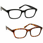 UV Reader Reading Glasses 2 Pack Black & Brown Tortoiseshell Large UVR2PK018_019