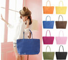 NEW Fashion Straw Summer Beach Tote Shoulder Big Bag