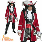 Adult Authentic Pirate Costume Captain Hook Fancy Dress Mens Deluxe Outfit New