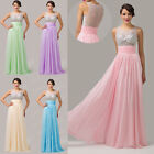 Long Maxi Chiffon Formal Cocktail Party Gowns Bridesmaid Evening Dress PLUS SIZE