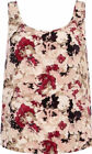 Ladies Ex chain store sleeveless Pink floral vest  top