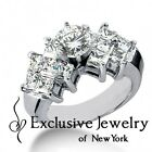 3.66CT Certified Ladies Round Cut Diamond Engagement Ring in 14kt White Gold