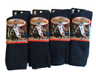 3 OR 12 Pairs NAVY BLUE COTTON Gold Star Men's Crew Socks Cushion Sports 10-13