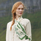 100% Silk Irish Shamrock Sprig Scarf by Patrick Francis