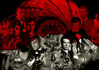 James Bond 007 50 Years Anniversary James Bond Movies Actors Photo A3 A4 Poster £19.99 GBP