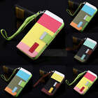 Hybrid Leather Wallet Flip magnetic Stand Cover Case for Samsung Galaxy S4 i9500
