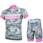 Men Cycling Bike Clothing Bicycle Wear Suit Short Sleeve Jersey + Shorts S-3XL