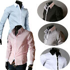 5.09 Mens Shirt SLIM FIT Pure Cotton Easy IRON Long Sleeve Single Cuff S-XL