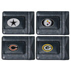NFL Football Team Leather Card Holder Money Clip Wallet  * Pick Your Team * on eBay