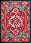 Red / Turquoise Safavieh Power Loomed Monaco Area Rugs - MNC207C