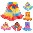 Stylish Colorful Chiffon Bohemia Rainbow Beach Scarf Wrap Shawl for Women WJ0153