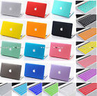 2 IN 1 Rubberized Hardshell Hard Cover Smart Case for Macbook Laptop Accessories
